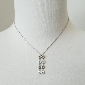 .925 Sterling Silver Mini Circle Necklace